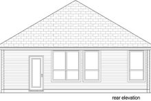 Craftsman Exterior - Rear Elevation Plan #84-538