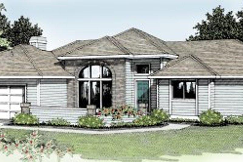 Prairie Exterior - Front Elevation Plan #92-111 - Houseplans.com