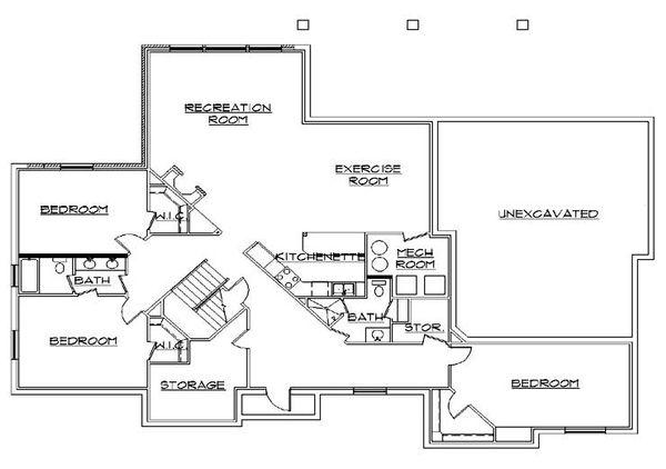European Floor Plan - Lower Floor Plan Plan #5-363