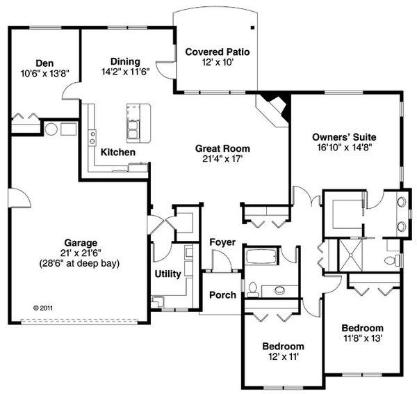 House Plan Design - Traditional Floor Plan - Main Floor Plan #124-869