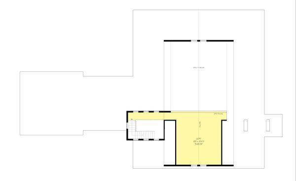 Farmhouse plan 888-1 upper flloor
