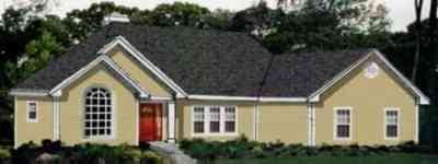 Ranch Style House Plan - 3 Beds 2 Baths 2002 Sq/Ft Plan #3-162 Exterior - Front Elevation