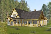 Bungalow Style House Plan - 4 Beds 4.5 Baths 4013 Sq/Ft Plan #117-581 Exterior - Front Elevation
