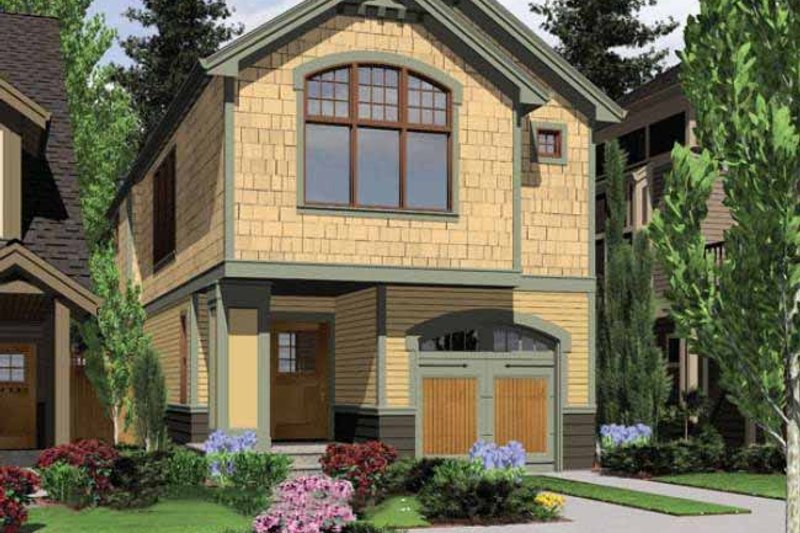 Craftsman Exterior - Front Elevation Plan #48-437