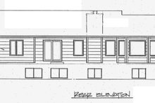 Home Plan - Traditional Exterior - Rear Elevation Plan #58-110
