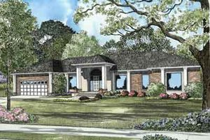 Colonial Exterior - Front Elevation Plan #17-2097