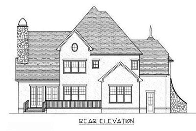 European Exterior - Rear Elevation Plan #413-108 - Houseplans.com