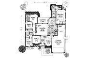 House Plan - 4 Beds 2.5 Baths 2321 Sq/Ft Plan #310-734 Floor Plan - Main Floor