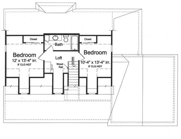 Home Plan - Farmhouse Floor Plan - Upper Floor Plan #46-868