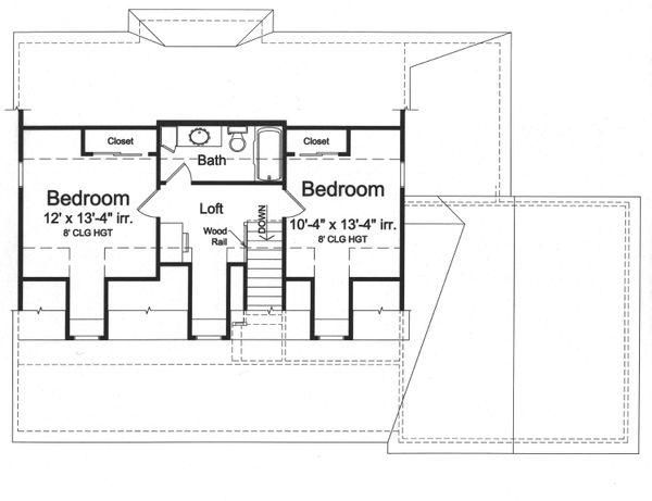 Farmhouse Floor Plan - Upper Floor Plan Plan #46-868