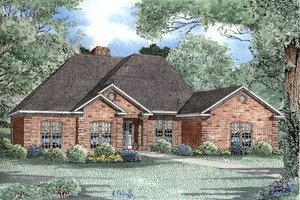 Traditional Exterior - Front Elevation Plan #17-172