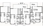 Traditional Style House Plan - 3 Beds 1.5 Baths 1203 Sq/Ft Plan #303-474 Floor Plan - Main Floor Plan