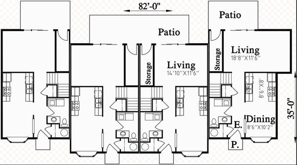 Architectural House Design - Traditional Floor Plan - Main Floor Plan #303-474