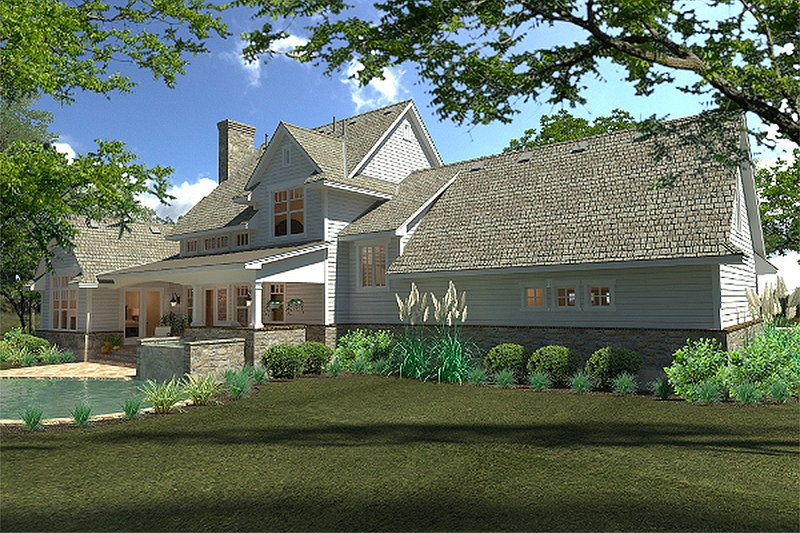 Country Exterior - Rear Elevation Plan #120-189 - Houseplans.com
