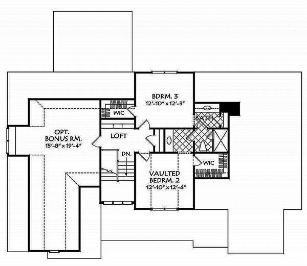 Country Floor Plan - Upper Floor Plan Plan #927-984