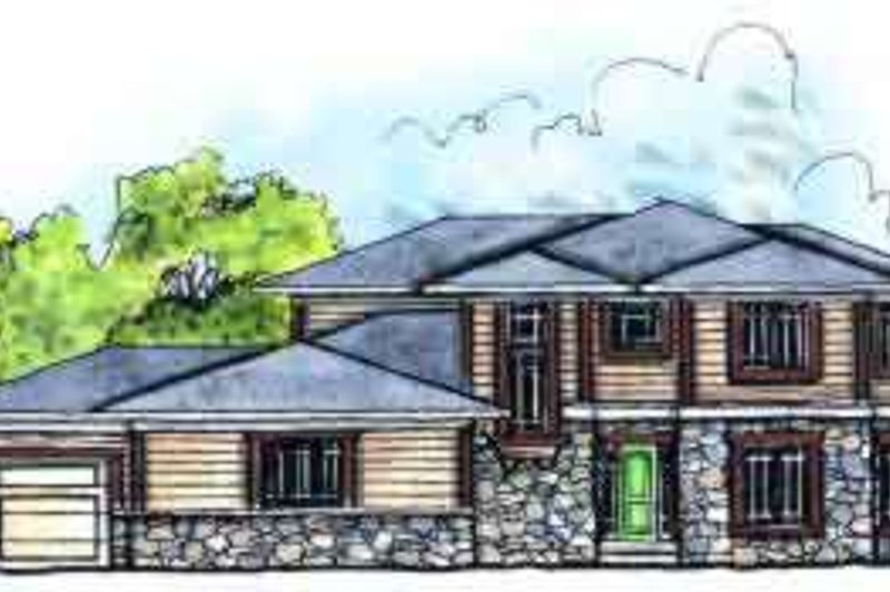 Craftsman Exterior - Front Elevation Plan #70-633