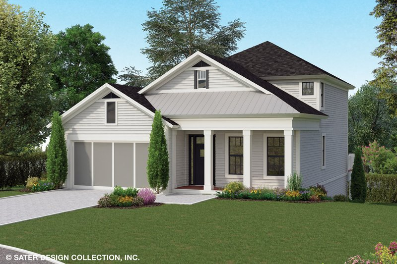 Country Style House Plan - 5 Beds 4 Baths 2072 Sq/Ft Plan #930-495 Exterior - Front Elevation
