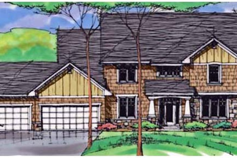 Traditional Exterior - Front Elevation Plan #51-410 - Houseplans.com