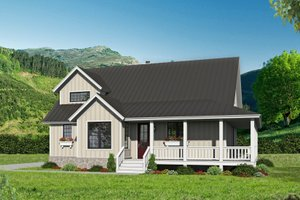 Country Exterior - Front Elevation Plan #932-59