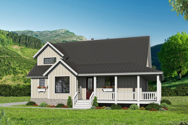 Home Plan - Country Exterior - Front Elevation Plan #932-59