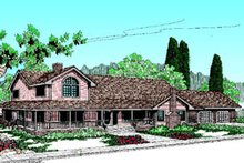 Home Plan Design - Traditional Exterior - Front Elevation Plan #60-175