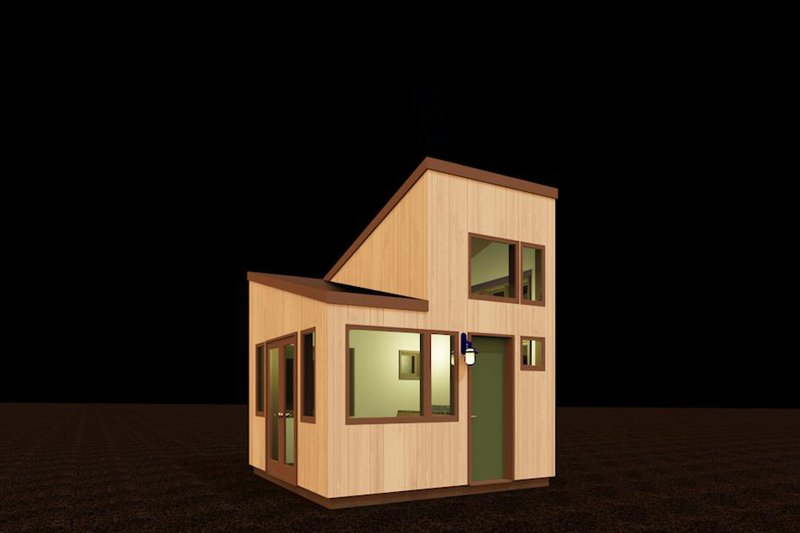 Contemporary Style House Plan - 0 Beds 0.5 Baths 99 Sq/Ft Plan #917-21 Exterior - Front Elevation