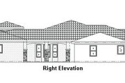 Mediterranean Style House Plan - 4 Beds 3.5 Baths 3443 Sq/Ft Plan #24-249 Exterior - Other Elevation