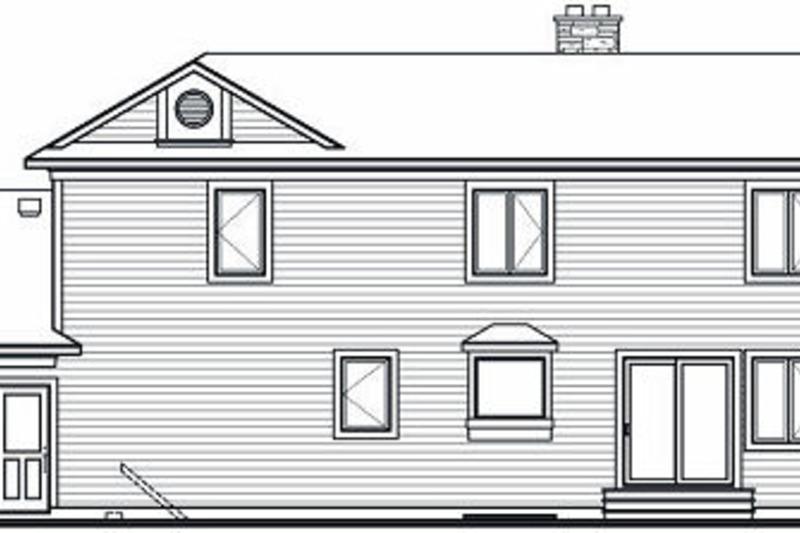 Traditional Exterior - Rear Elevation Plan #23-712 - Houseplans.com