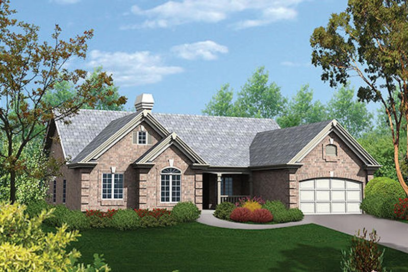 Traditional Style House Plan - 4 Beds 2 Baths 2218 Sq/Ft Plan #57-276 Exterior - Front Elevation