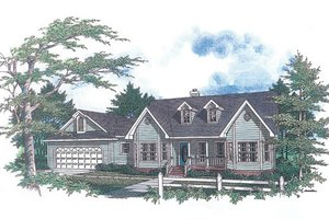 Country Exterior - Front Elevation Plan #14-122