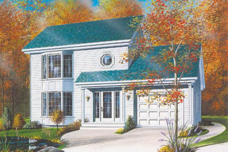 Exterior - Front Elevation Plan #23-2126 - Houseplans.com