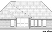 Tudor Exterior - Rear Elevation Plan #84-607
