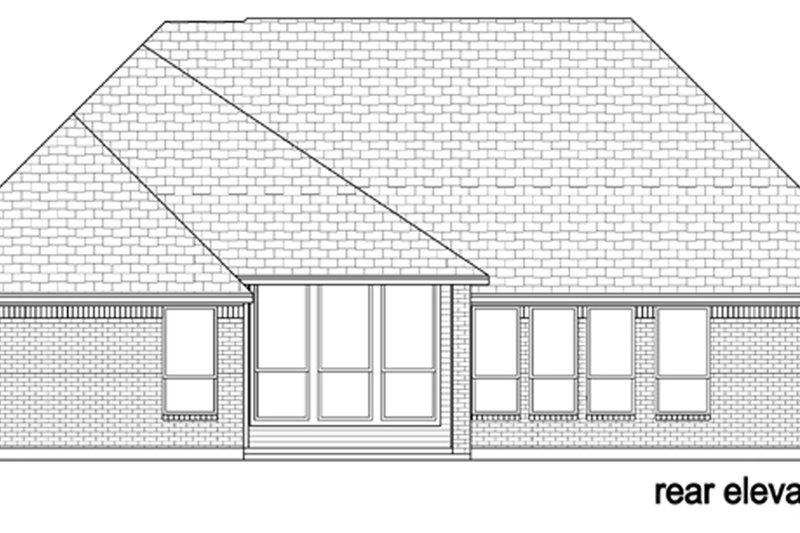 Tudor Exterior - Rear Elevation Plan #84-607 - Houseplans.com