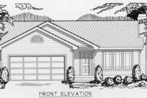 Ranch Exterior - Front Elevation Plan #112-101