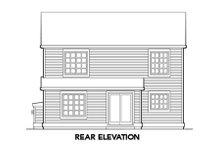 Home Plan - Traditional Exterior - Rear Elevation Plan #48-309