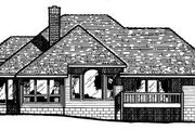Traditional Style House Plan - 3 Beds 2.5 Baths 2068 Sq/Ft Plan #20-136 Exterior - Rear Elevation