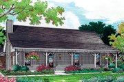 Cottage Style House Plan - 3 Beds 2 Baths 1244 Sq/Ft Plan #45-244 Exterior - Front Elevation