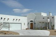 Adobe / Southwestern Style House Plan - 4 Beds 2.5 Baths 2417 Sq/Ft Plan #1-558 Exterior - Front Elevation