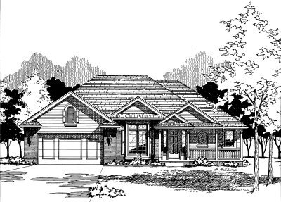 Traditional Exterior - Front Elevation Plan #20-138 - Houseplans.com