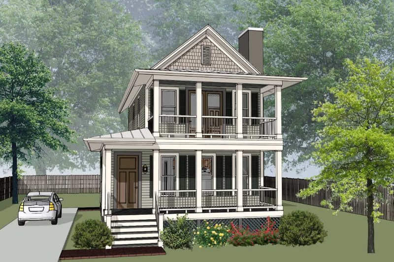 Craftsman Style House Plan - 3 Beds 2.5 Baths 1618 Sq/Ft Plan #79-303 Exterior - Front Elevation