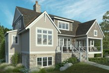 Colonial Exterior - Rear Elevation Plan #928-334