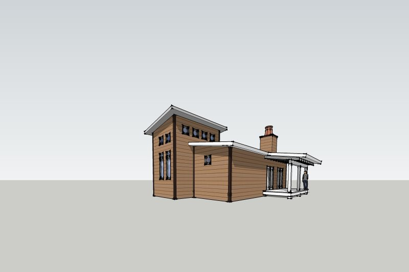 Modern Style House Plan - 1 Beds 1 Baths 500 Sq/Ft Plan #531-4 Exterior - Other Elevation
