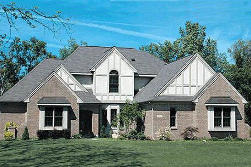 Tudor Exterior - Front Elevation Plan #20-2020