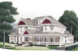 Victorian Exterior - Front Elevation Plan #410-399