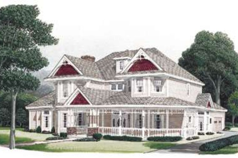 Architectural House Design - Victorian Exterior - Front Elevation Plan #410-399