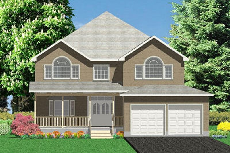 Traditional Style House Plan - 5 Beds 4 Baths 3471 Sq/Ft Plan #414-107 Exterior - Front Elevation