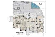 Farmhouse Style House Plan - 4 Beds 2.5 Baths 2837 Sq/Ft Plan #51-1136 Floor Plan - Main Floor