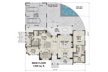 Farmhouse Floor Plan - Main Floor Plan Plan #51-1136