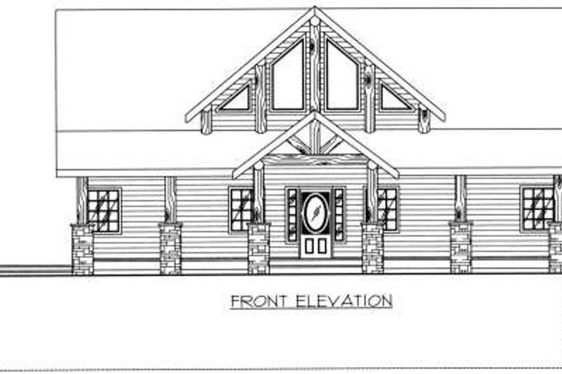 Bungalow Exterior - Other Elevation Plan #117-580 - Houseplans.com