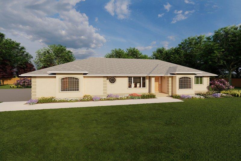 House Plan Design - Mediterranean Exterior - Front Elevation Plan #126-124